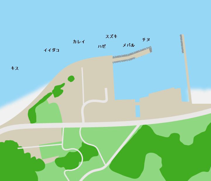 夏目港ポイント図