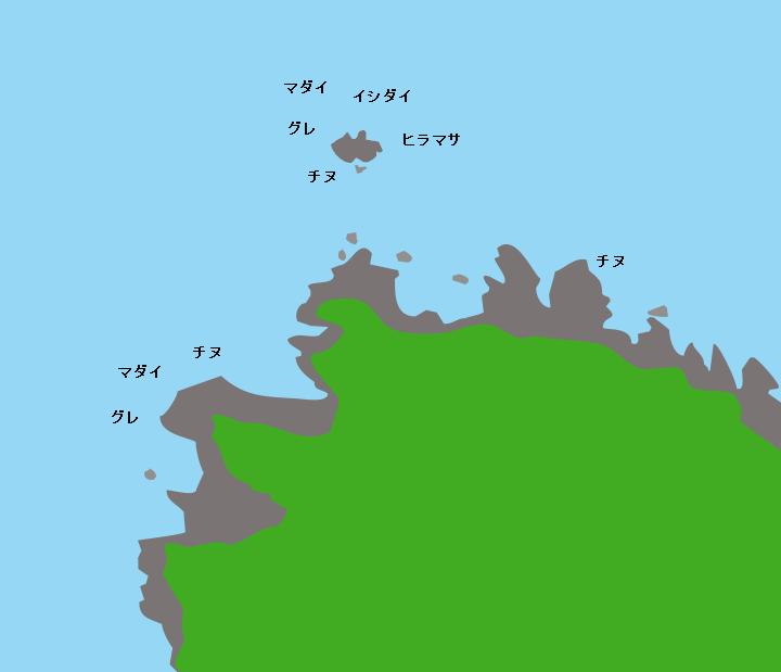 蓋井島威瀬ポイント図