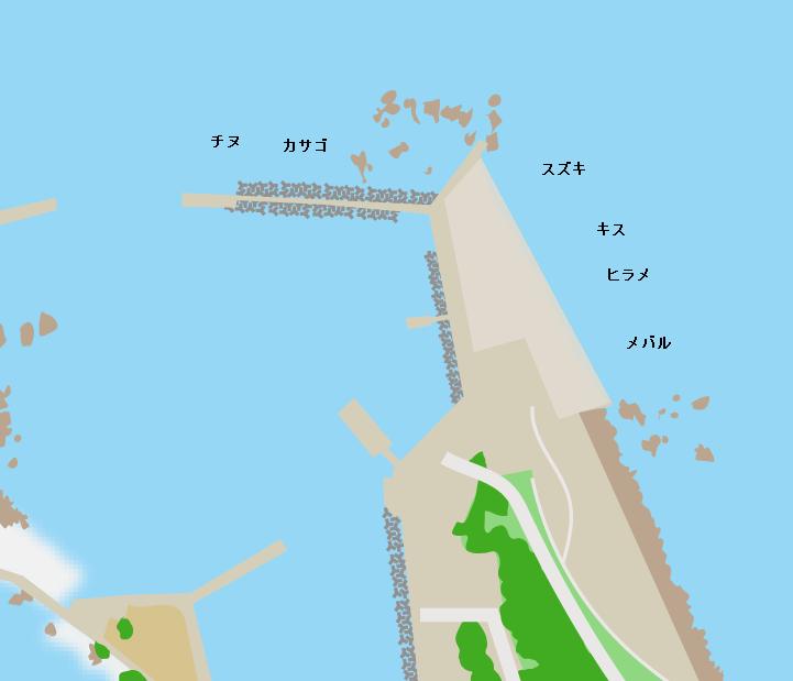 犬島港周辺ポイント図