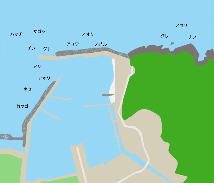 小串漁港ポイント図