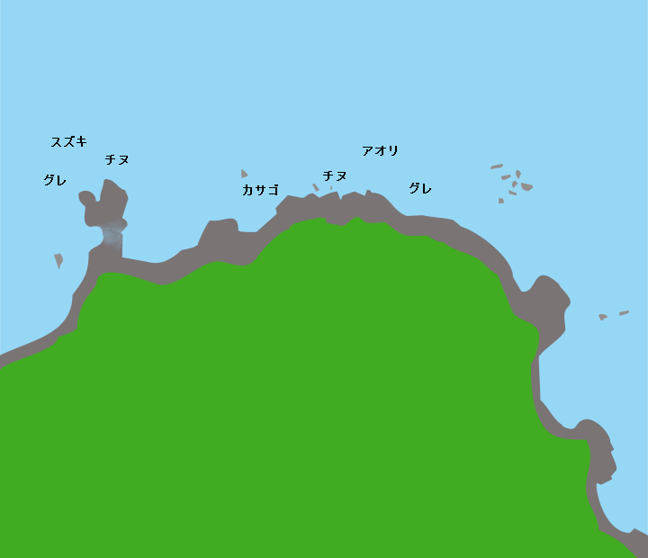 神田岬ポイント図