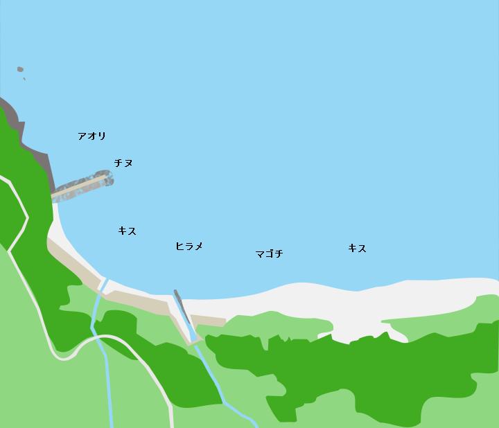 土井ヶ浜ポイント図