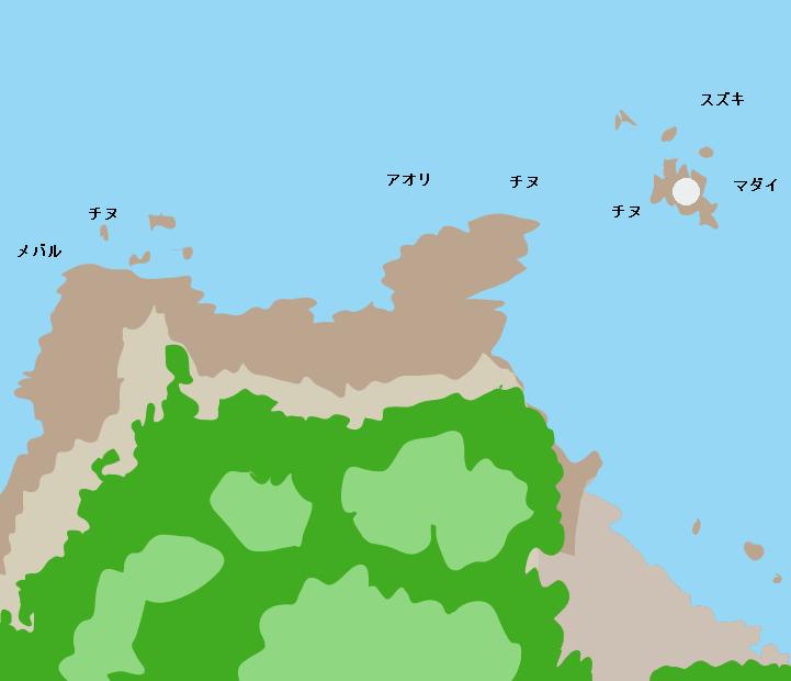 六口島灯台周辺ポイント図