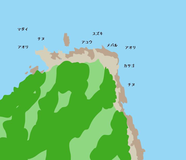 六口島金剛崎ポイント図