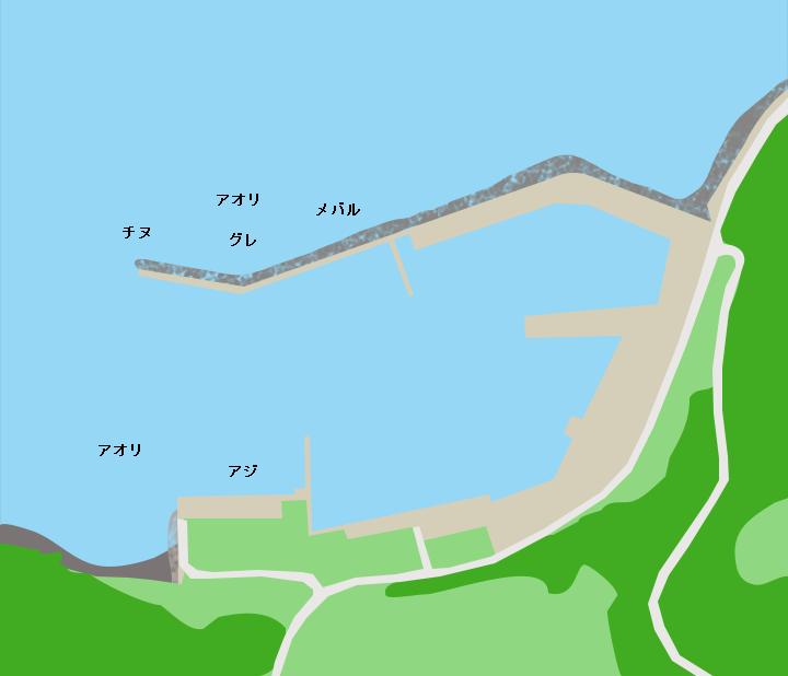 角島元山港ポイント図