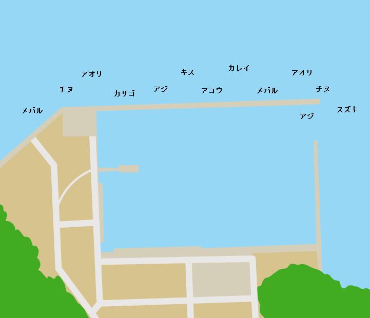 白石島新港ポイント図
