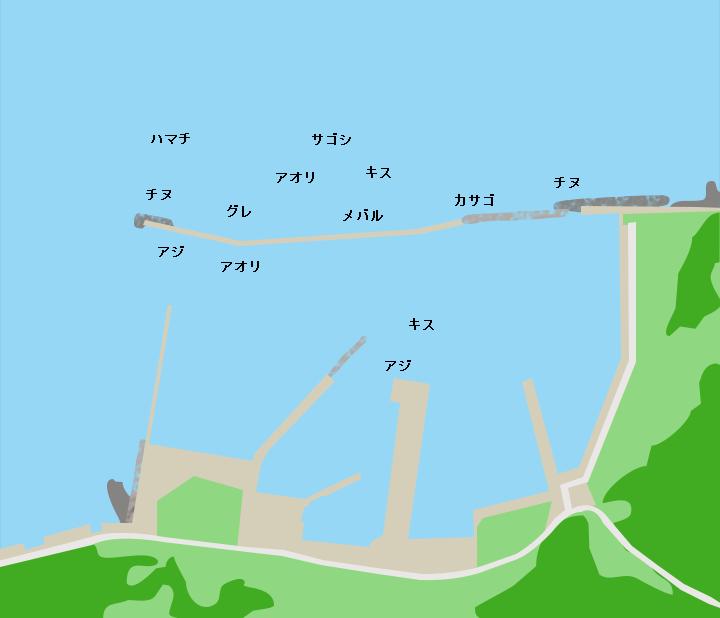角島尾山港ポイント図