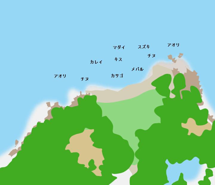 白石島乳石ポイント図