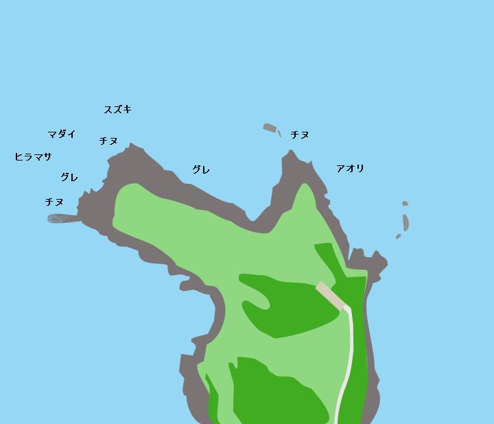 角島牧崎ポイント図