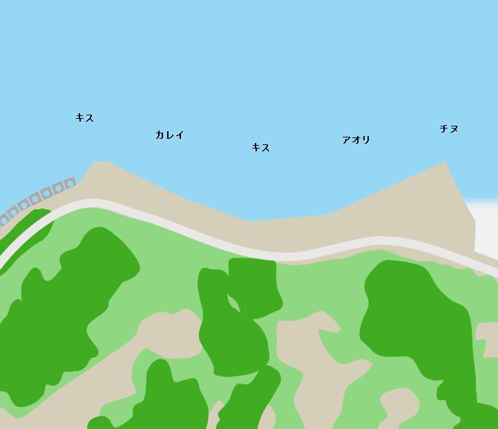 白石島ウルメポイント図