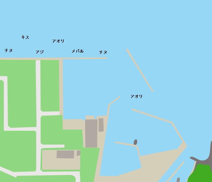 伊上漁港ポイント図