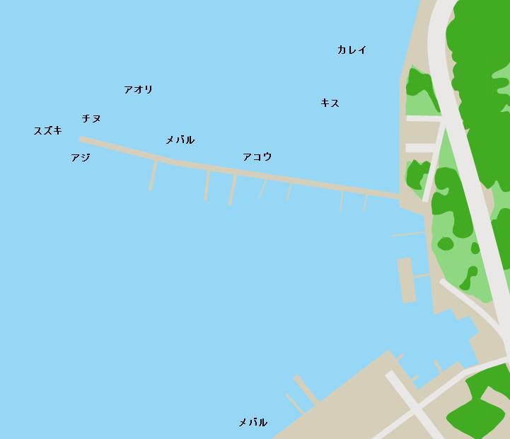 北木島金風呂港ポイント図