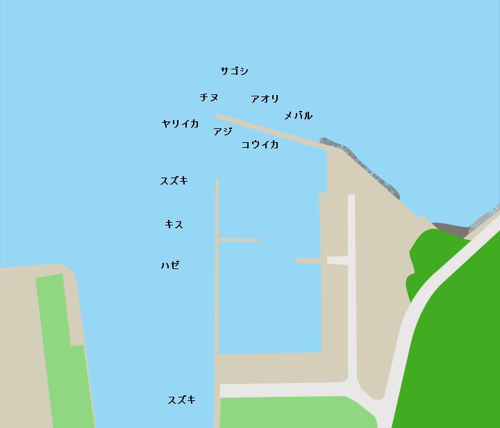 掛淵漁港ポイント図