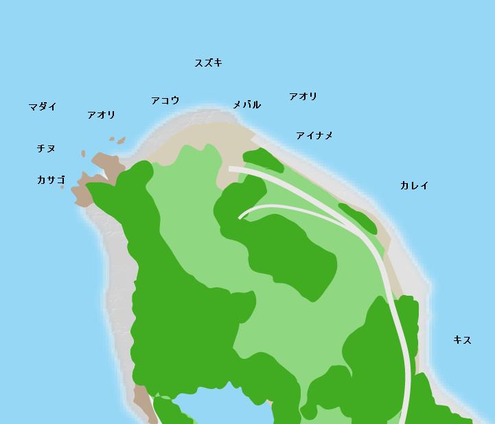 北木島獅崎ポイント図