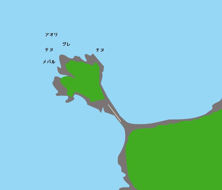 俵島ポイント図