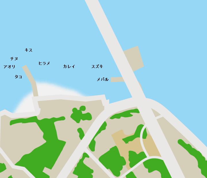 内海大橋下ポイント図