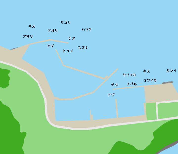 大浦漁港ポイント図