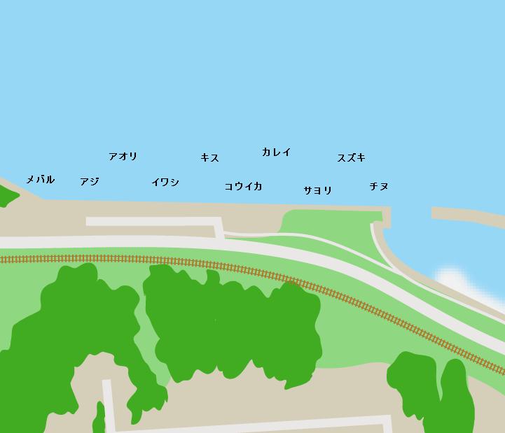 すなみ海浜公園ポイント図