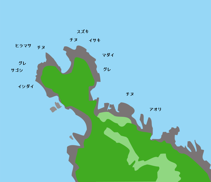 川尻岬ポイント図