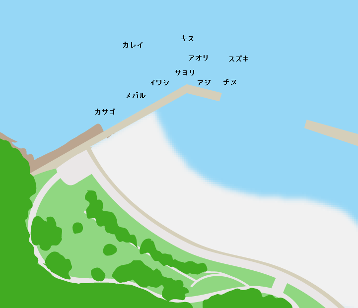 狩留賀海浜公園ポイント図