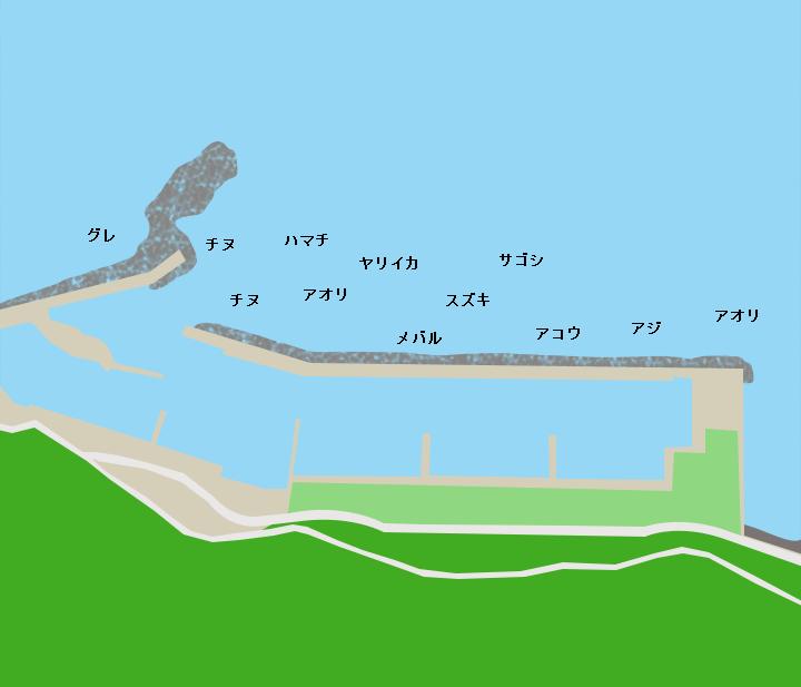 川尻漁港ポイント図