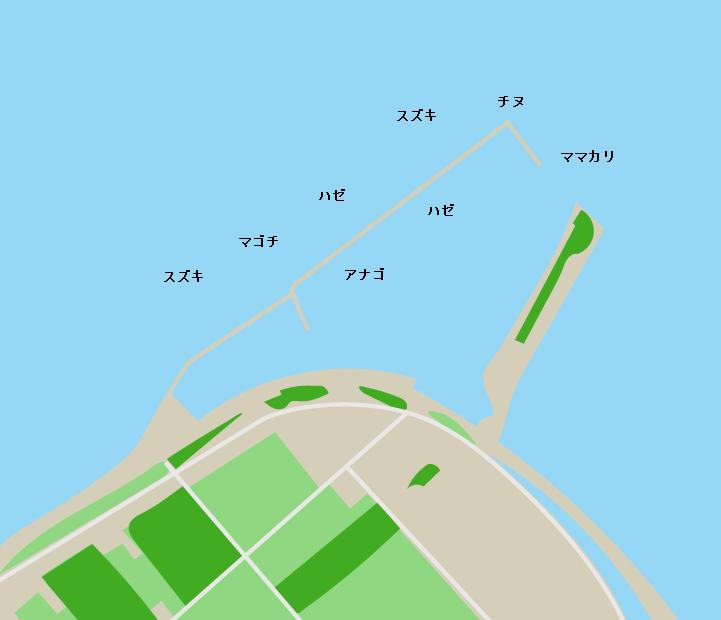九蟠港ポイント図