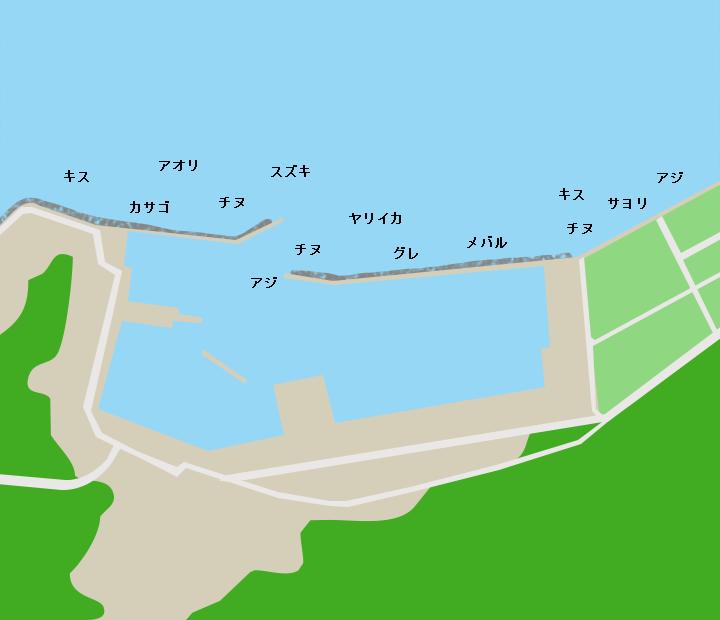 野波瀬漁港ポイント図