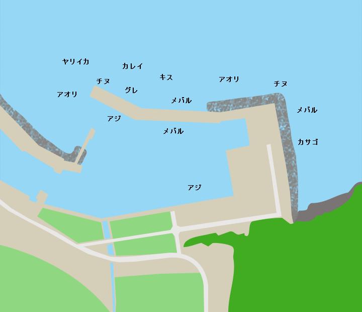 三見漁港ポイント図