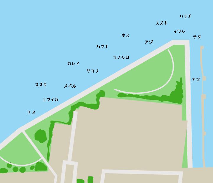 吉島釣り公園ポイント図