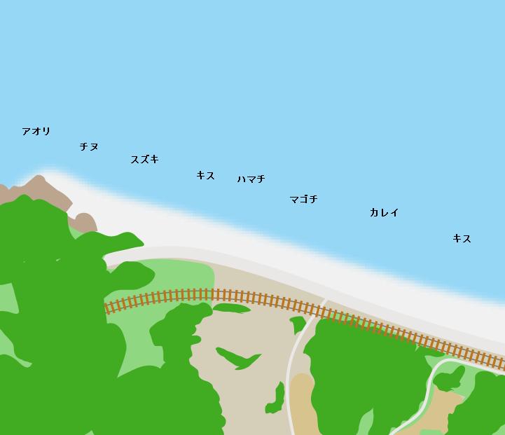 鳴川海岸ポイント図