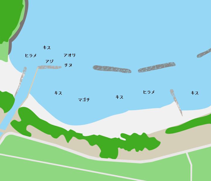 菊ヶ浜ポイント図