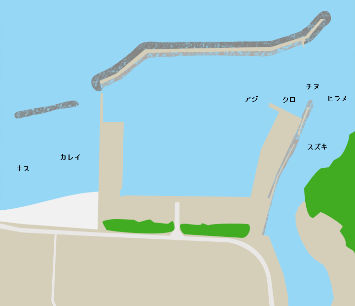 萩商港ポイント図