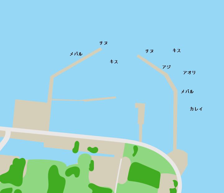 能美島高田港ポイント図
