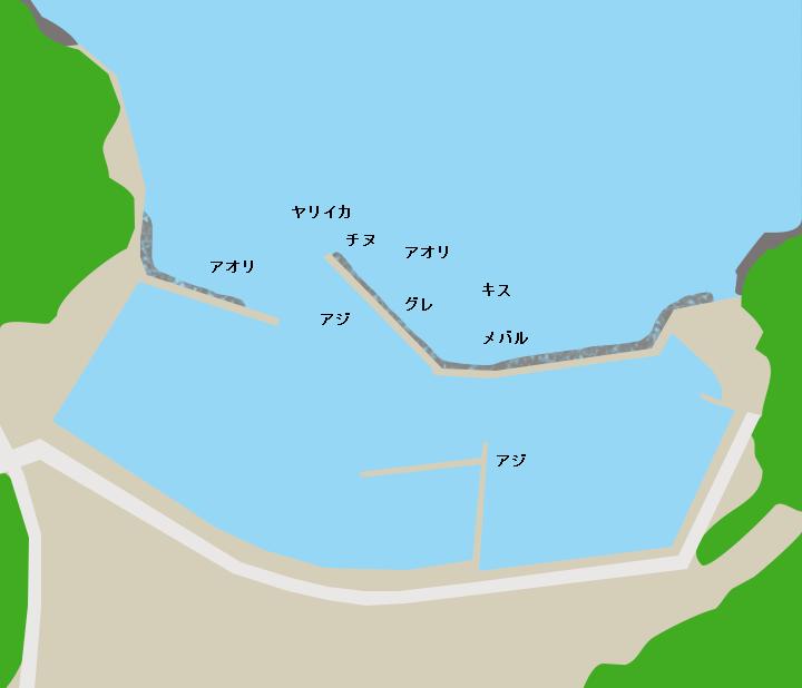 大日比港ポイント図