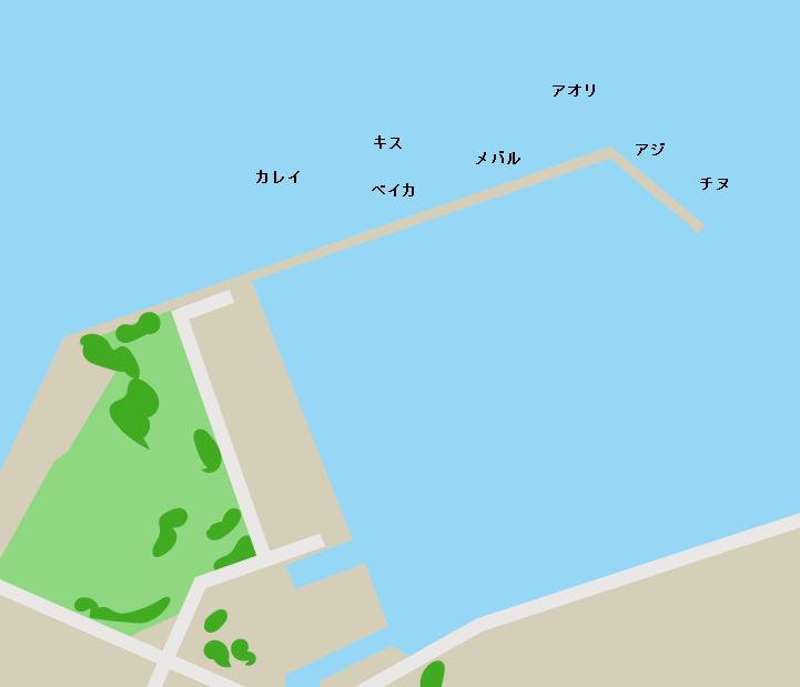 大君漁港ポイント図