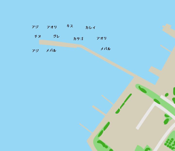 能美島鹿川港ポイント図