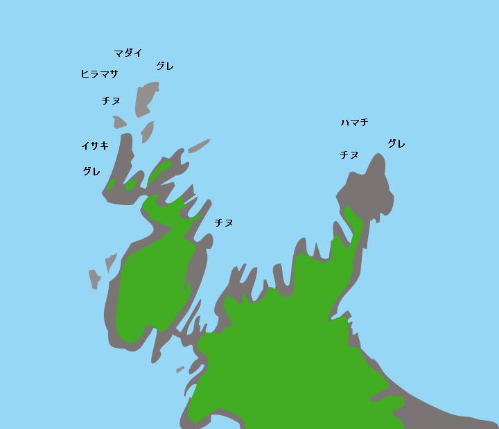 青海島黄金洞ポイント図
