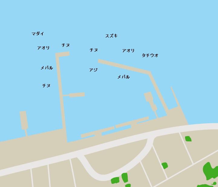 倉橋島早瀬漁港ポイント図