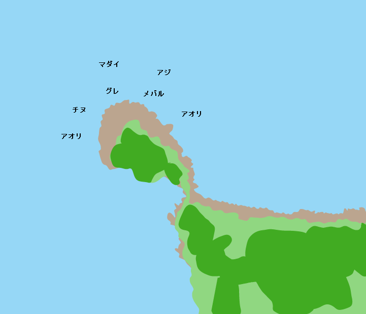 倉橋島亀ヶ首ポイント図