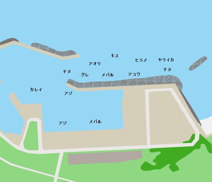 大井浦漁港ポイント図