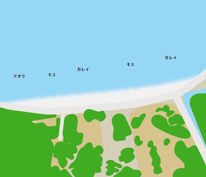 大崎下島白潟公園付近ポイント図