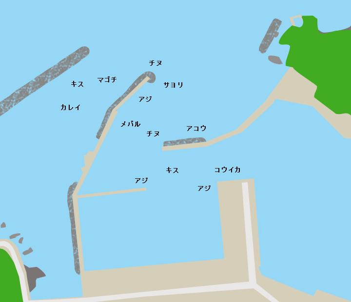 須佐漁港ポイント図
