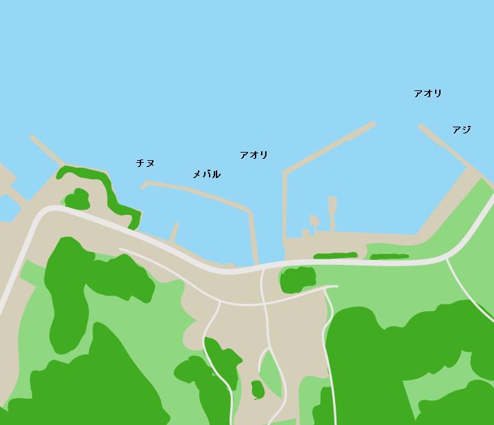上蒲刈島蒲刈港ポイント図