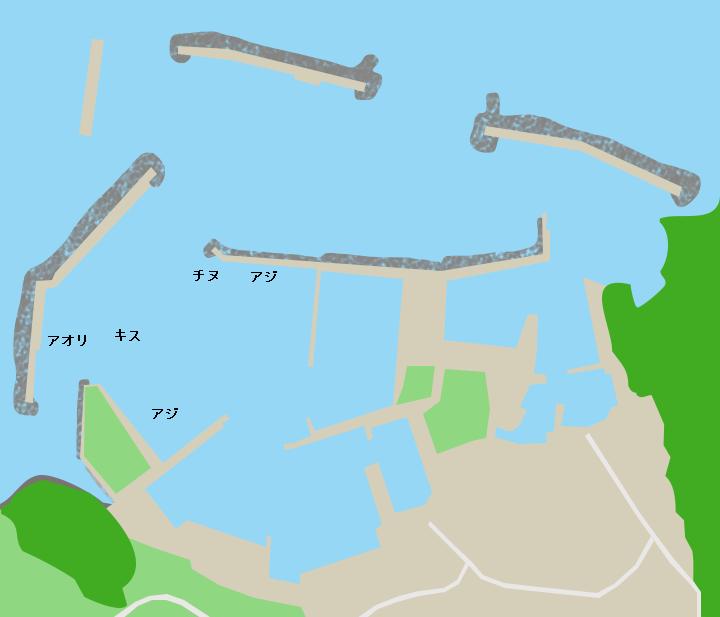 見島港ポイント図