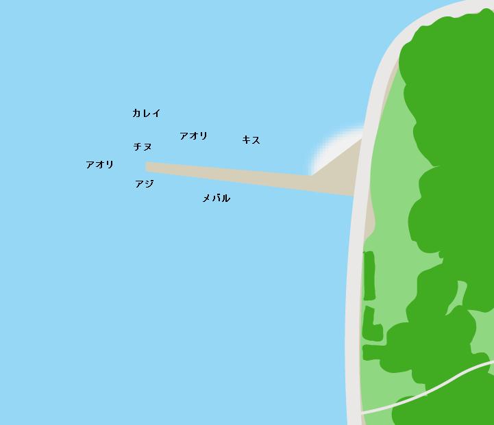 上蒲刈島田戸港ポイント図
