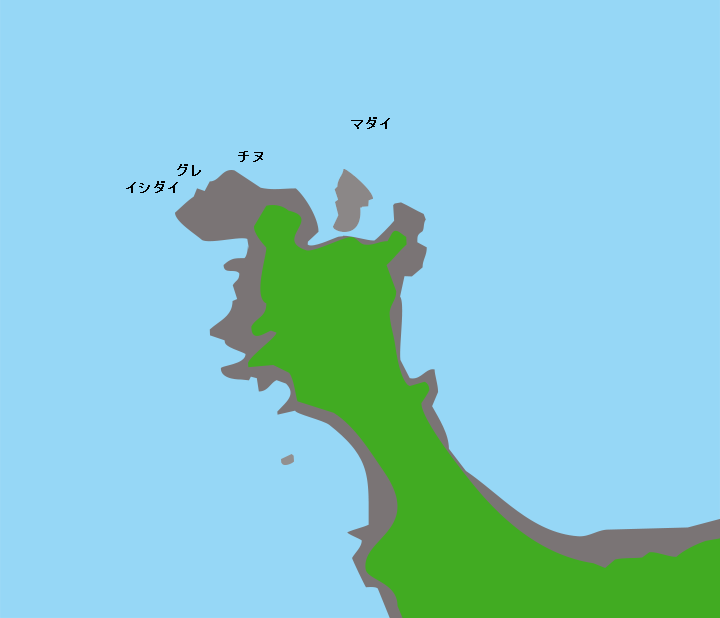 見島日崎ポイント図
