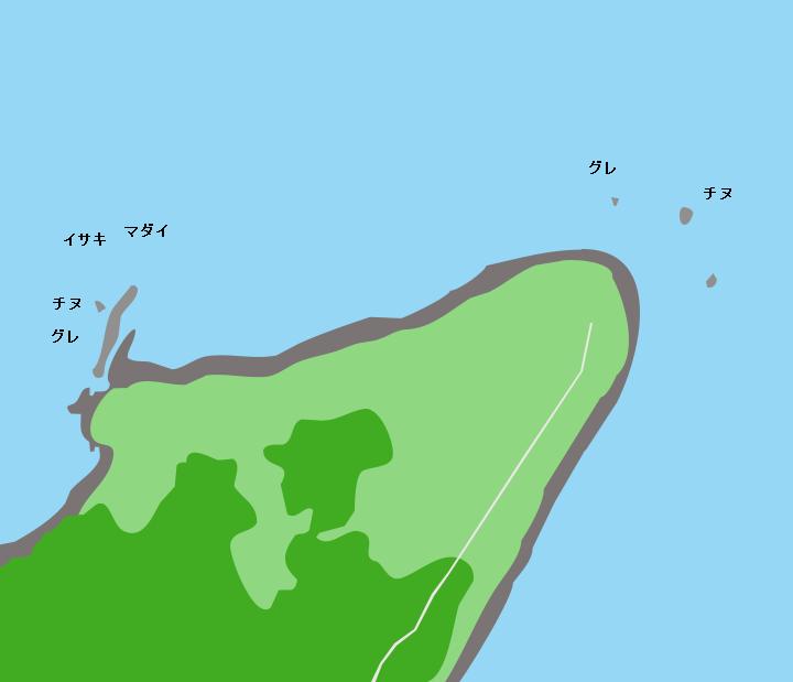 見島長尾ノ鼻周辺ポイント図