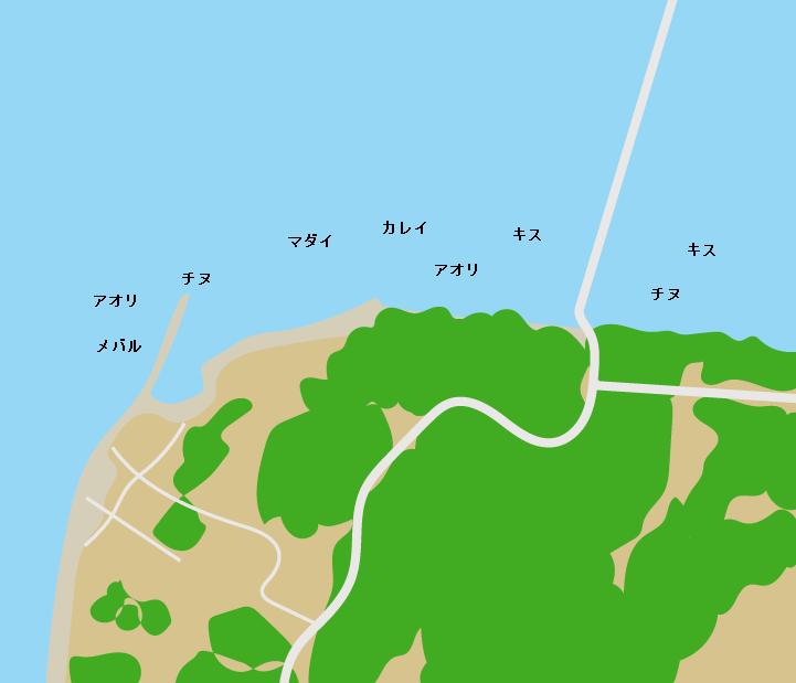 大芝島大芝大橋周辺ポイント図