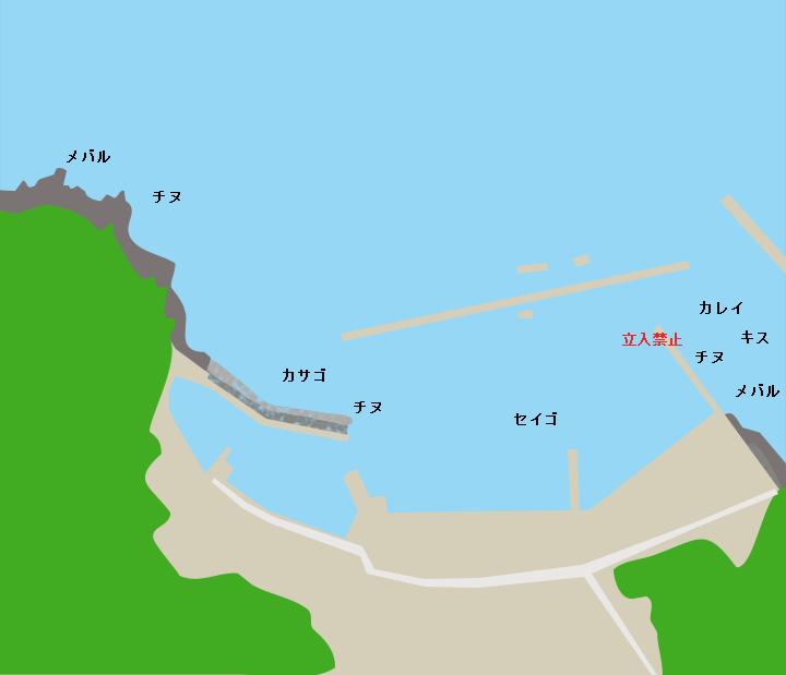 子父雁漁港ポイント図