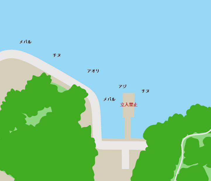 大芝島大芝北ポイント図